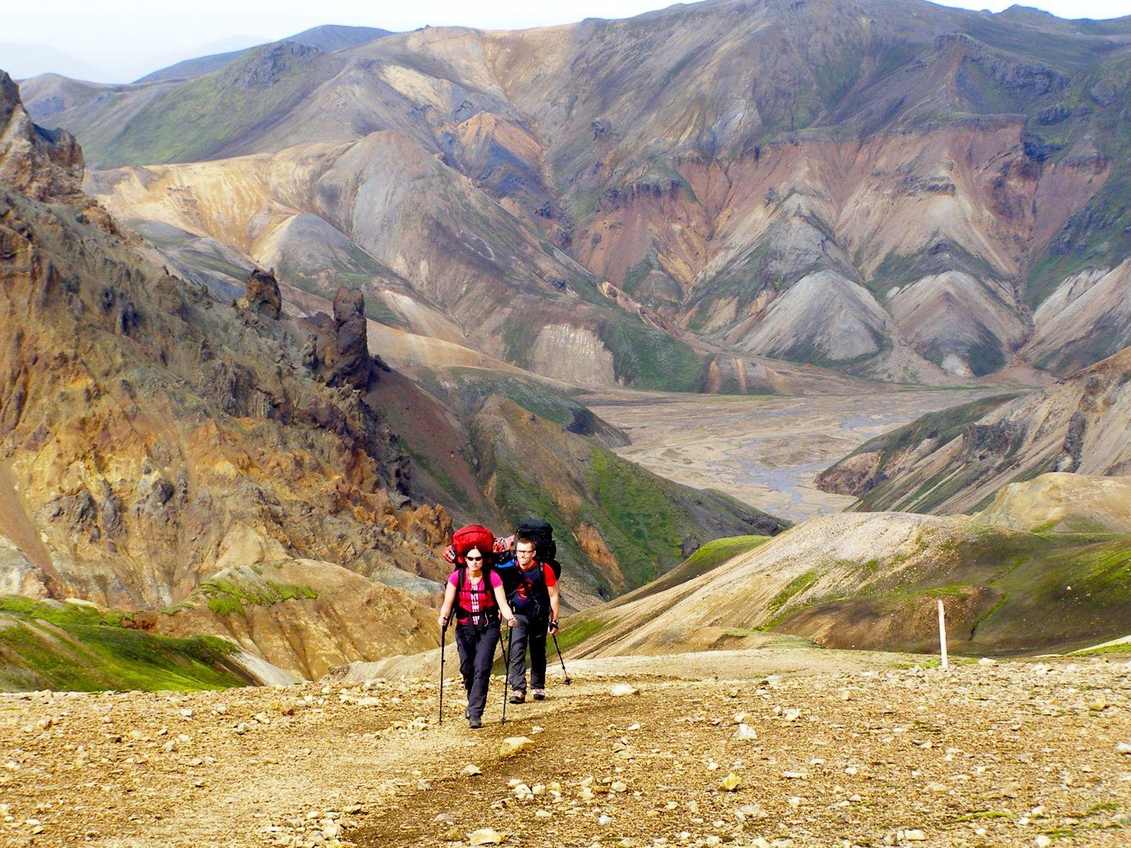 Trekking in Landmannalaugar, Iceland